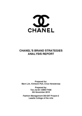 Chanel Brand Strategies Analysis by Ena Teo Jia En - issuu
