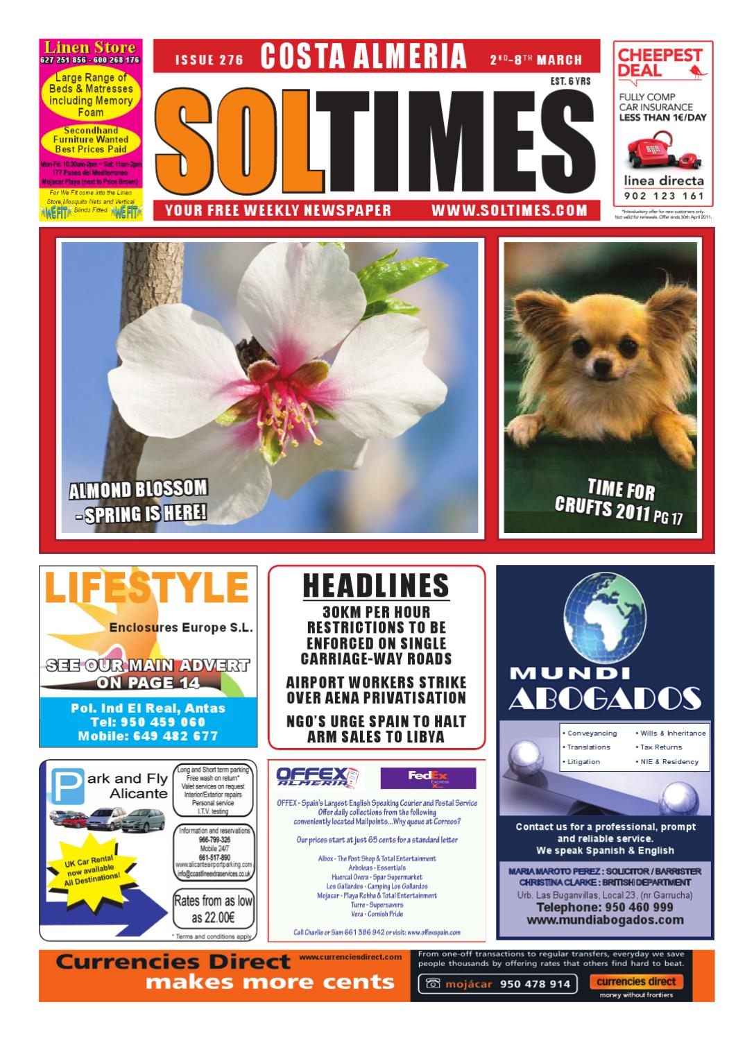 Sol Times Newspaper Issue 276 Costa Almeria Edition By Nigel  # Muebles Seyer Ayamonte