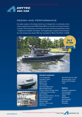 Anytec Marine AB-960 CAB by Marine Mega Store Ltd - issuu