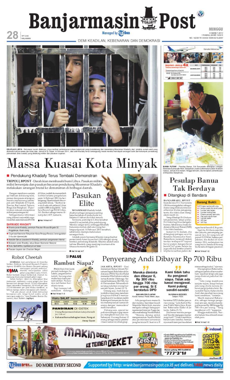 Banjarmasin Post Edisi Minggu 6 Maret 2011 By Issuu Charger Warna Warni Merk Hasan Sj0048