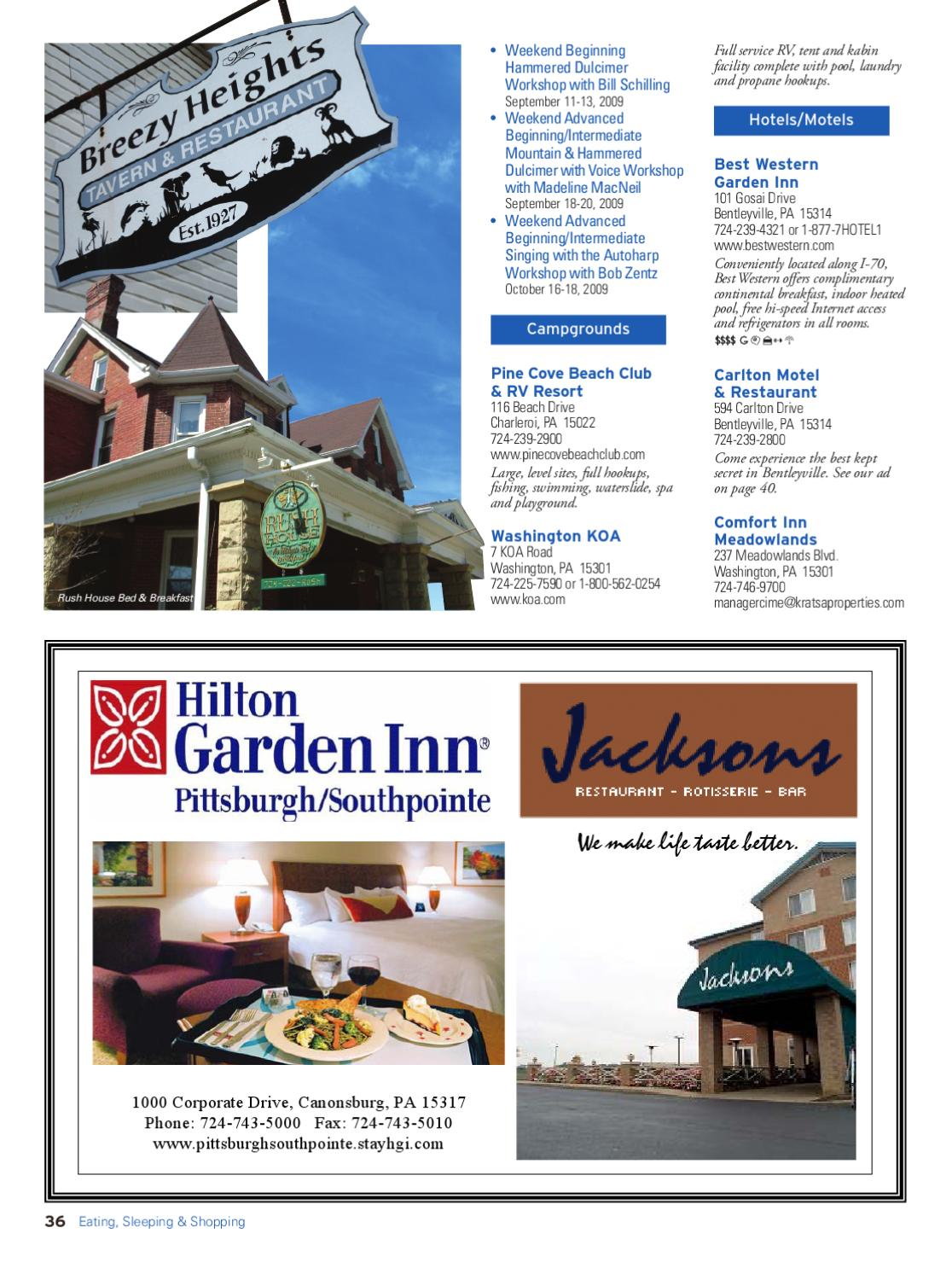 Washington County, PA Official Visitors Guide