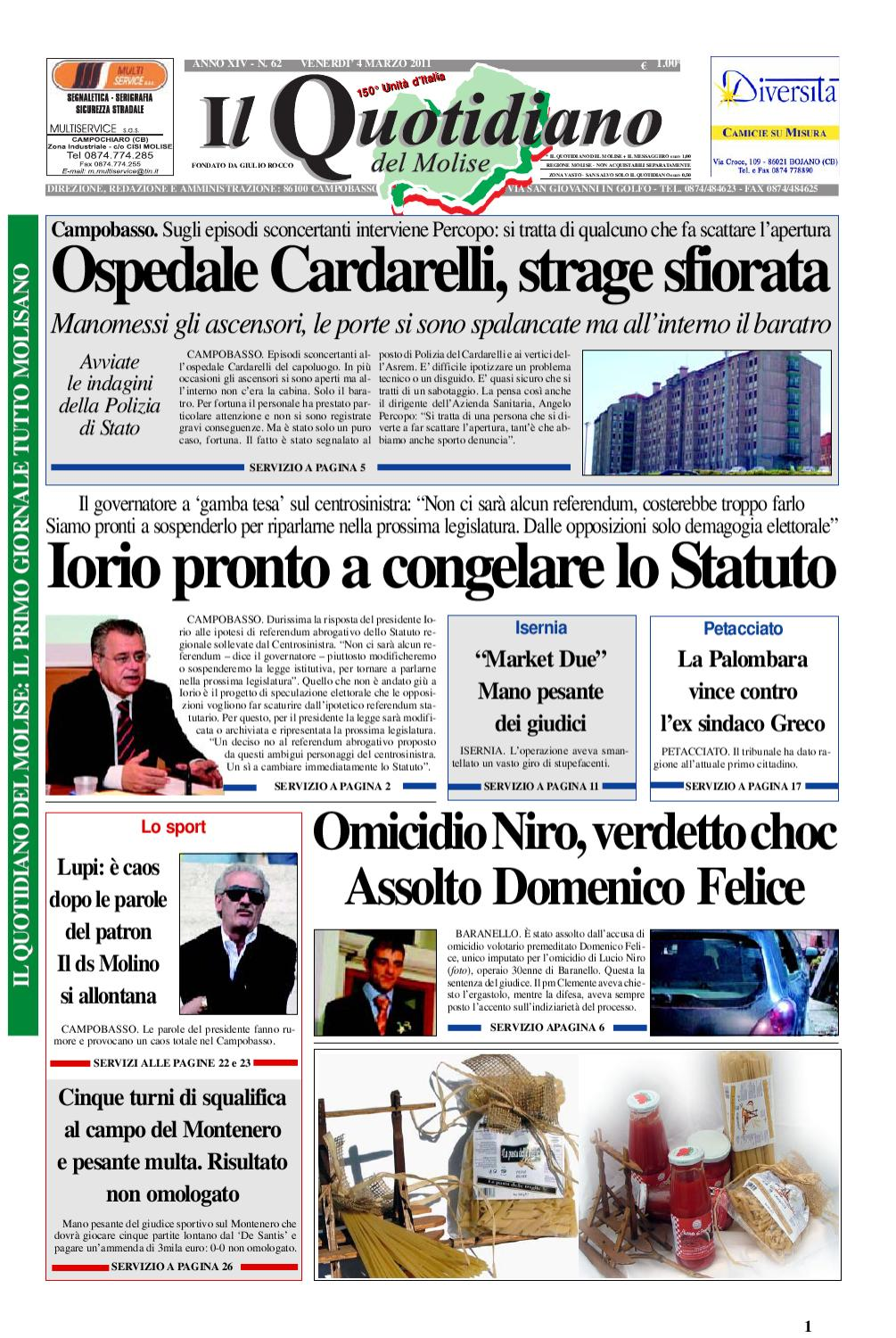 Il Quotidiano Del Molise By Giovanni Testa Issuu