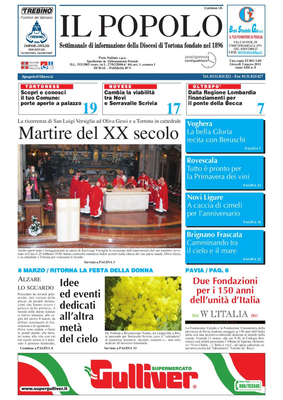 il popolo 3 marzo 2011 by Diocesi Tortona - issuu 46fc77302aec