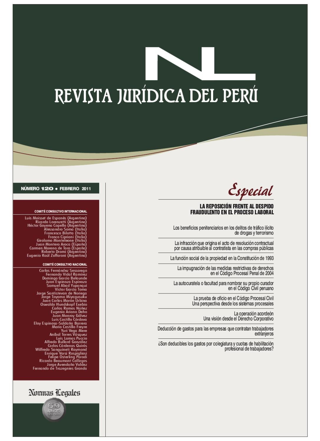 revista jur237dica del per250 120 by gaceta civil issuu