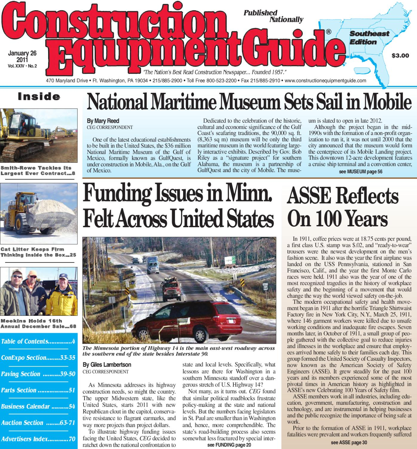 Southeast #2, 2011 by Construction Equipment Guide - issuu