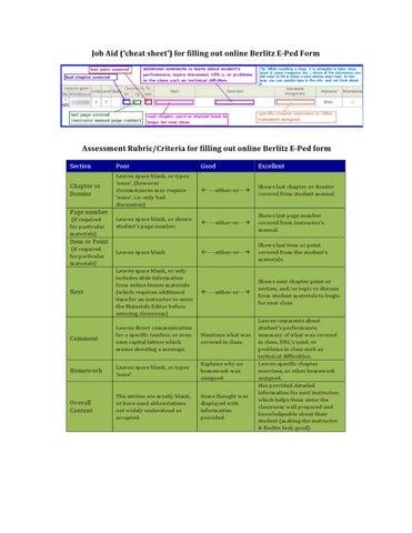 e ped job aid by brian dickey issuu rh issuu com berlitz english instructor manual free download