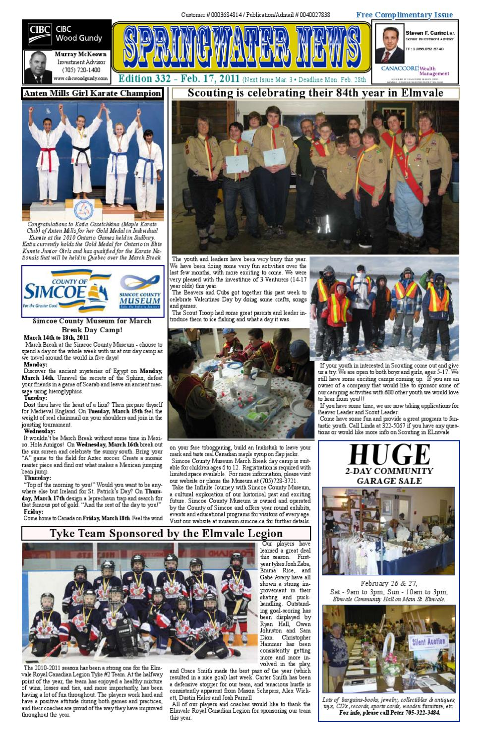 February 17 2011 Edition 332 By Springwater News