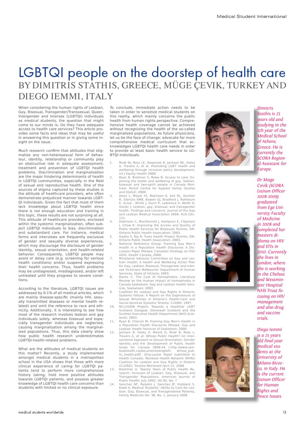 Ministerial advisory committee on gay lesbian bisexual transgender and intersex health and wellbeing