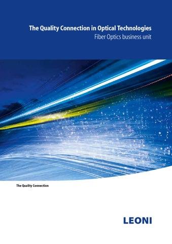 Business Unit LEONI Fiber Optics Image brochure by FELTEN
