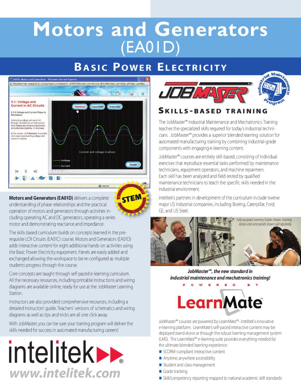 Ea01d Motors And Generators By Intelitek Inc Issuu Interactive Wiring Diagram