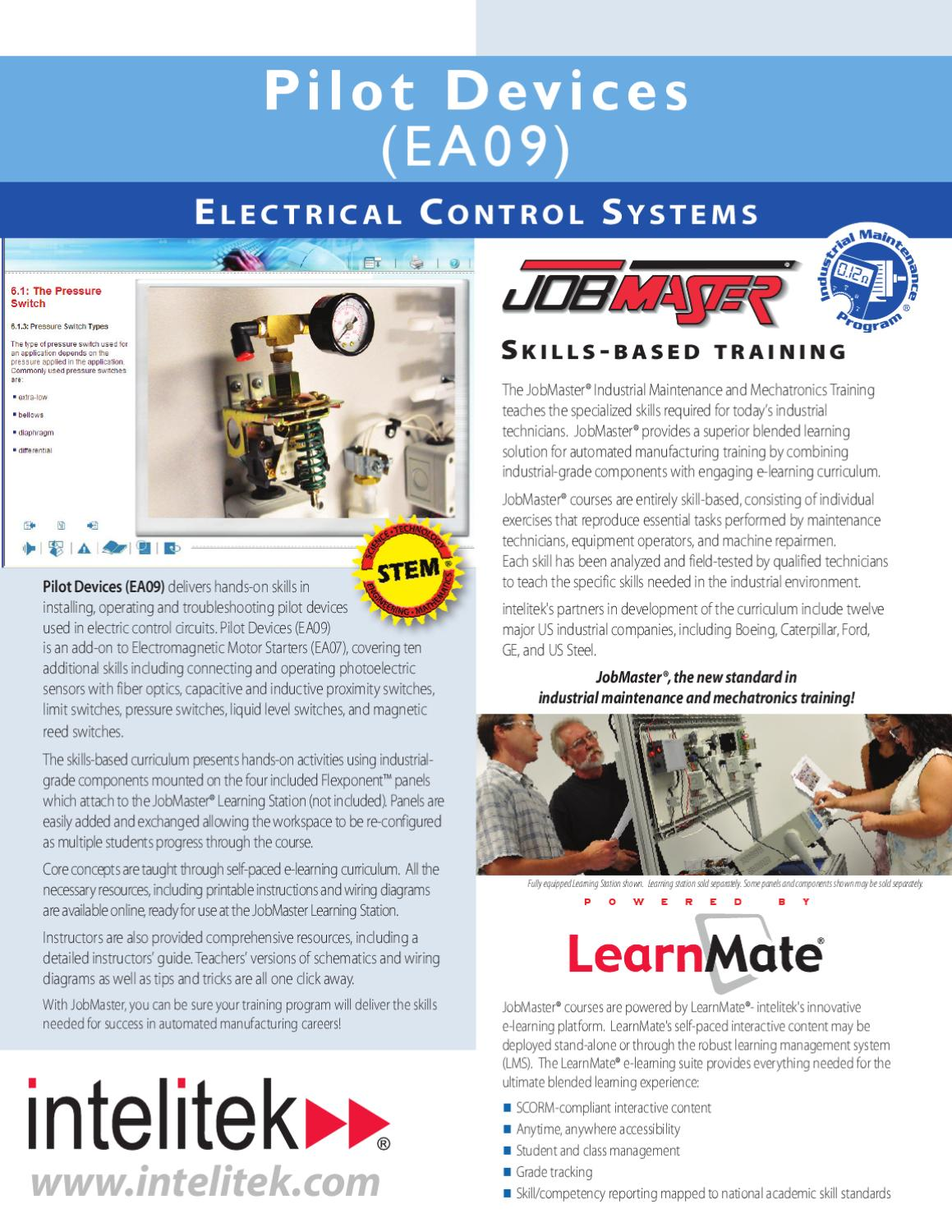 Ea09 Pilot Devices By Intelitek Inc Issuu Troubleshooting Electrical Circuits Training Software