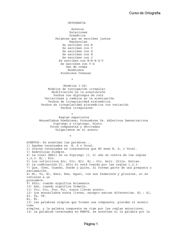 Ebook Espa Ol Curso De Ortografia Y Reglas Generales By Edwin  # Muebles Es Hiato O Diptongo