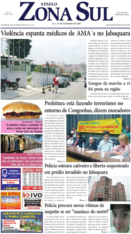 1028f7117c2ab 20 a 26 de fevereiro de 2009 - Jornal São Paulo Zona Sul by Jornal Zona Sul  - issuu