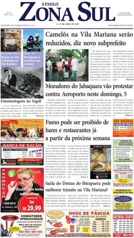 601137167 03 a 09 de abril de 2009 - Jornal São Paulo Zona Sul by Jornal Zona ...