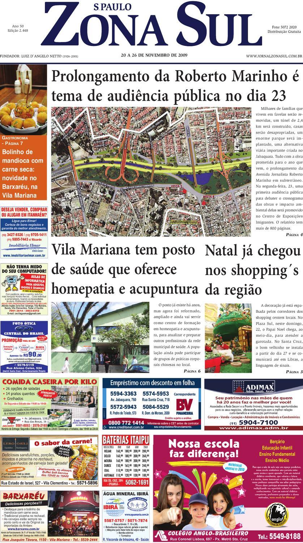 72b7fc6a3 20 a 26 de novembro de 2009 - Jornal São Paulo Zona Sul by Jornal Zona Sul  - issuu