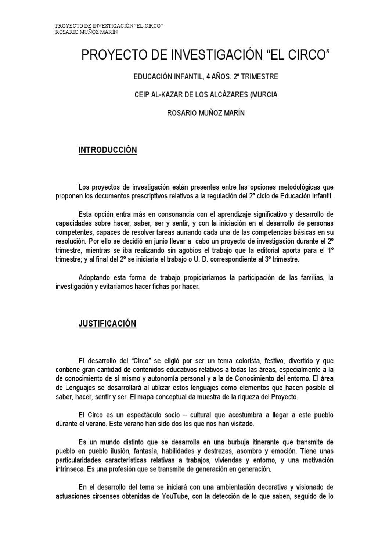 Proyecto De Investigaci N El Circo By Rosario Mu Oz Issuu