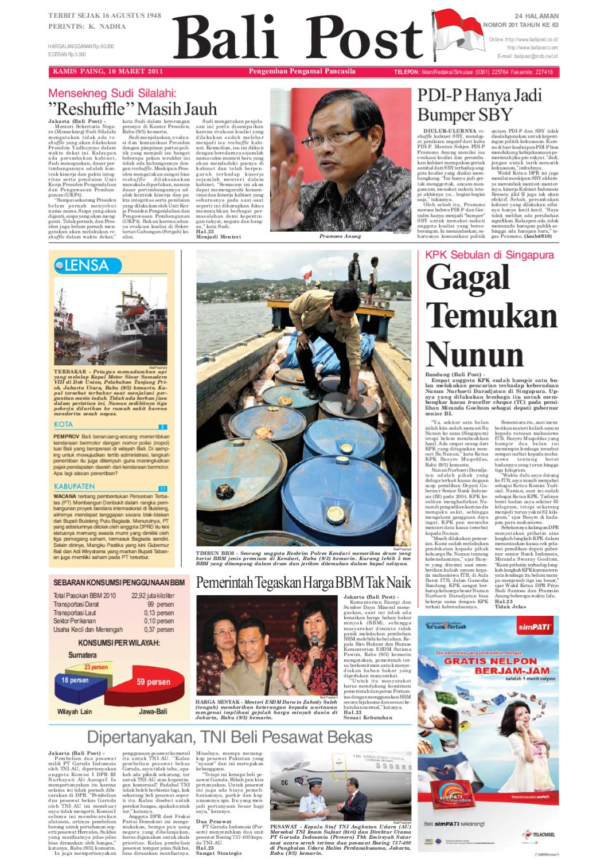 Edisi 10 Maret 2011 Balipostcom By E Paper Kmb Issuu Produk Ukm Bumn Wisata Mewah Bali 3hr 2mlm
