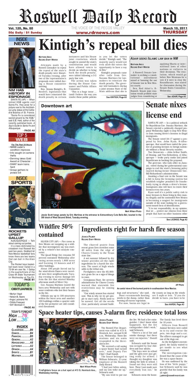 03-10-2011 by Roswell Daily Record - issuu
