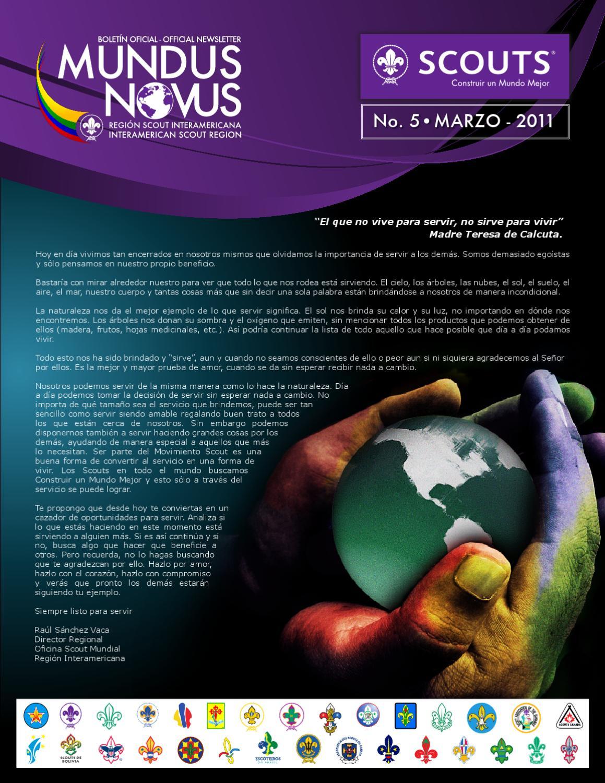 Mundus Novus No.5 by World Organization of the Scout Movement - issuu