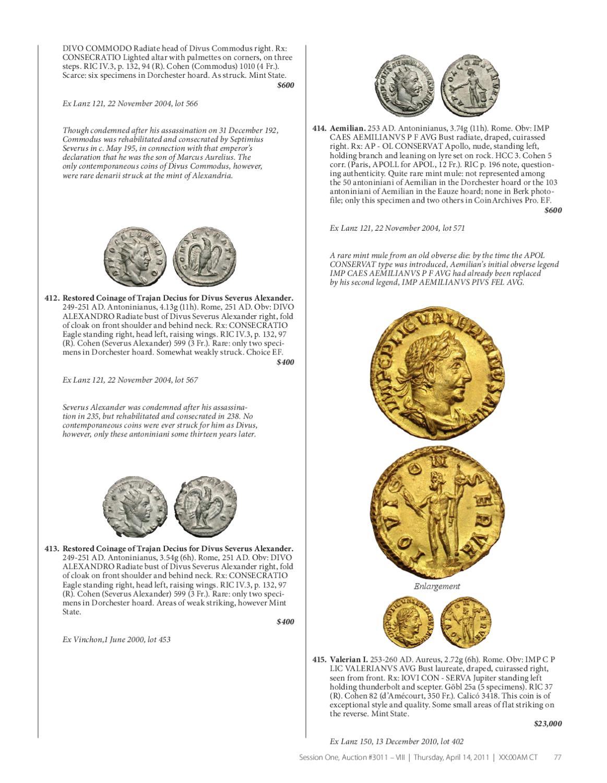 Gemini Numismatic Auctions-Heritage VIII by Harlan J  Berk