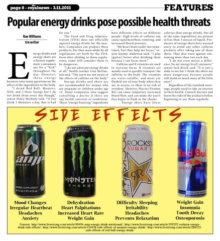 energy drinks and there effects 2 essay Report abuse home opinion pop culture / trends energy drinks: not so silent killers effects, energy drinks have the teens suffering from their.