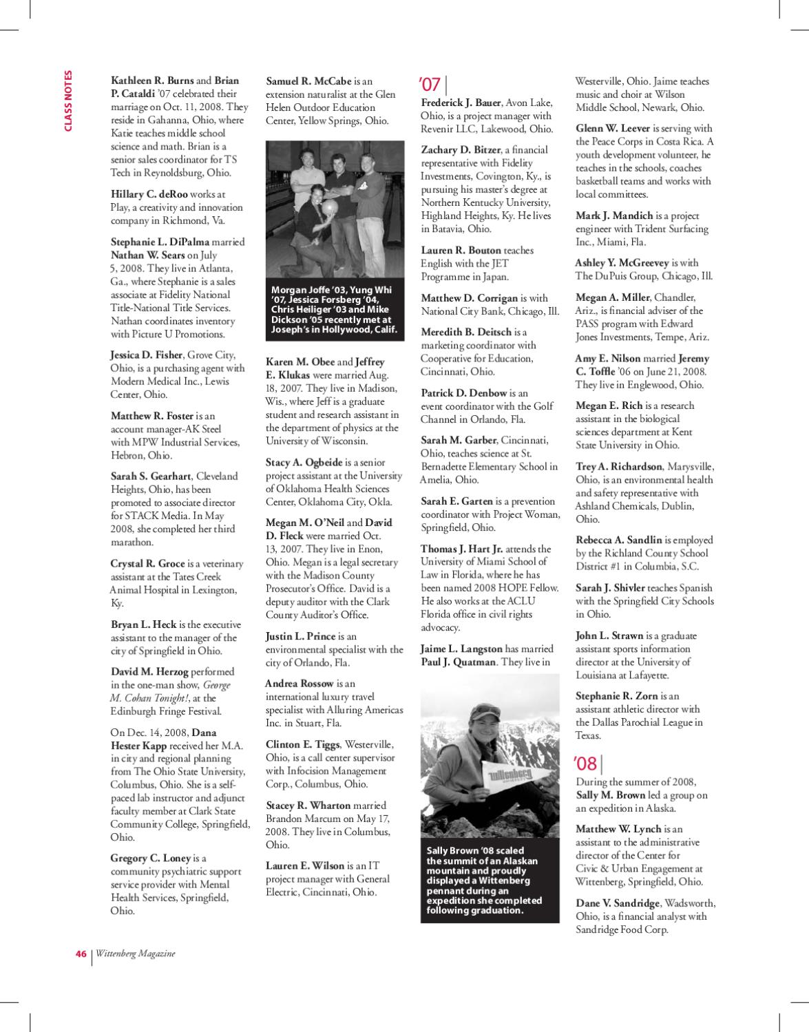 Wittenberg Magazine Spring 2009 By Wittenberg University Issuu