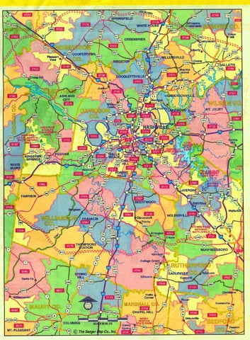 Nashville Zip Code Map By Stephanie Crawford Issuu