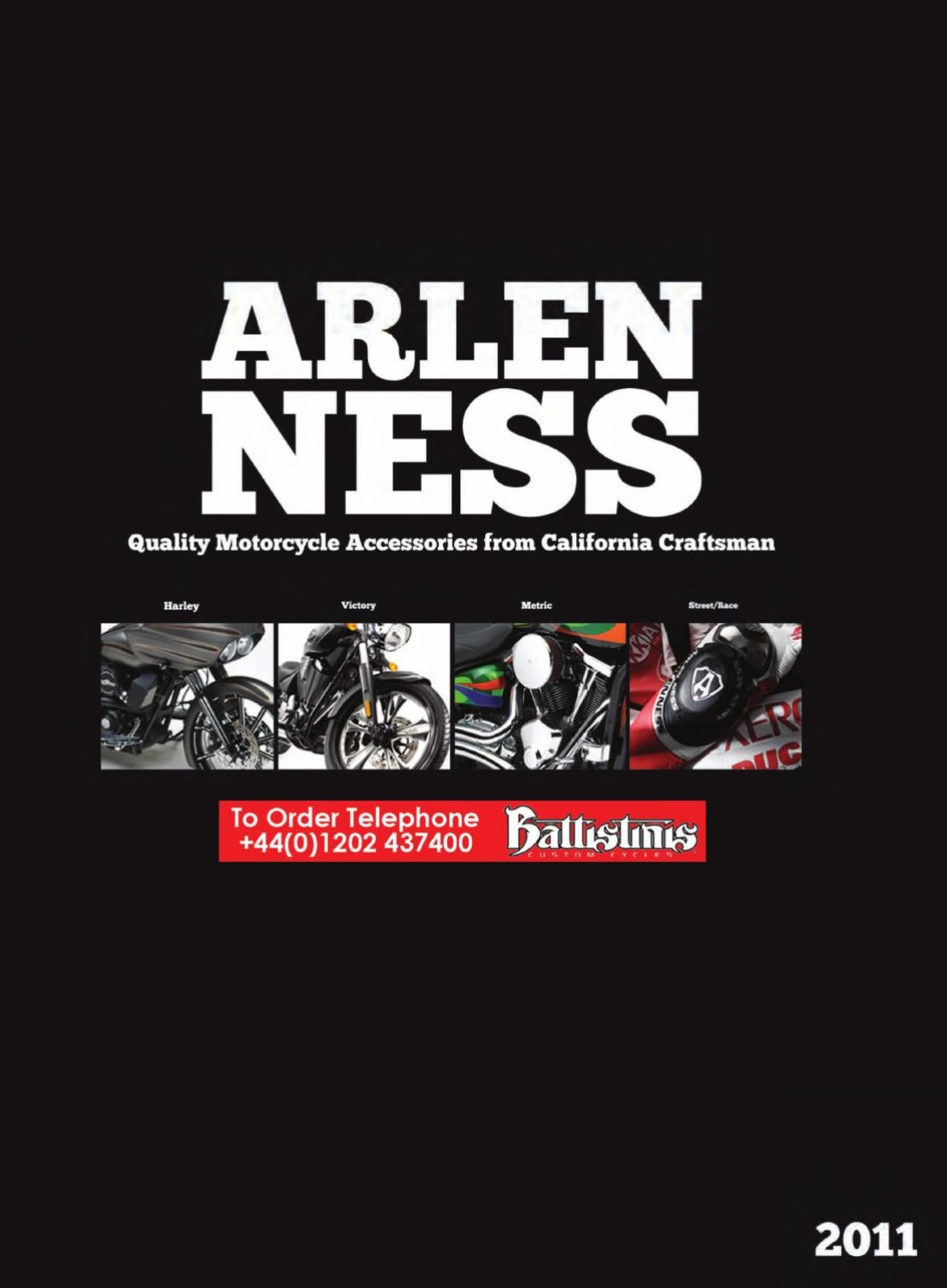 Arlen Ness Tech Footpegs Deep Cut Black 06-472