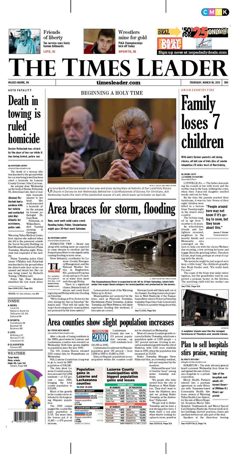 foto de Times Leader 03-10-2011 by The Wilkes-Barre Publishing Company - issuu