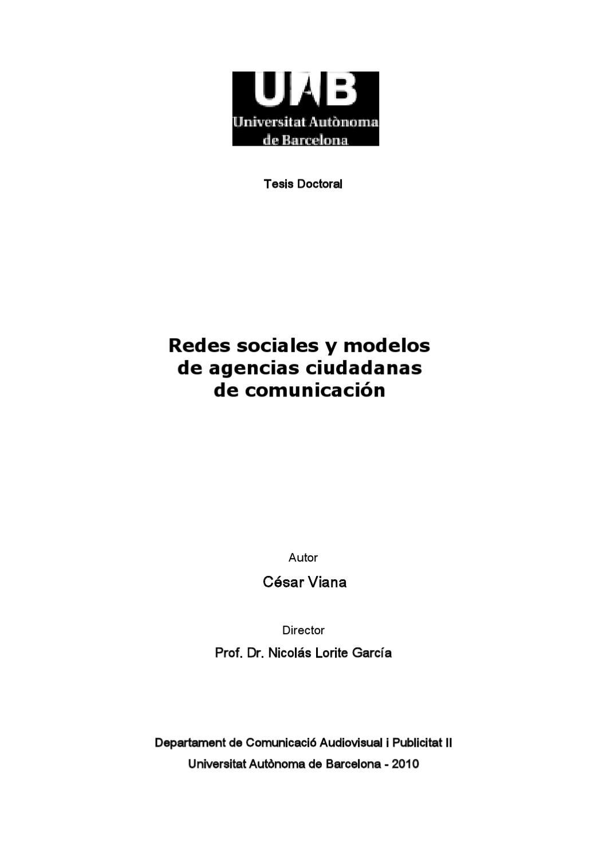 Redes sociales y modelos de agencias ciudadanas de comunicación by ...