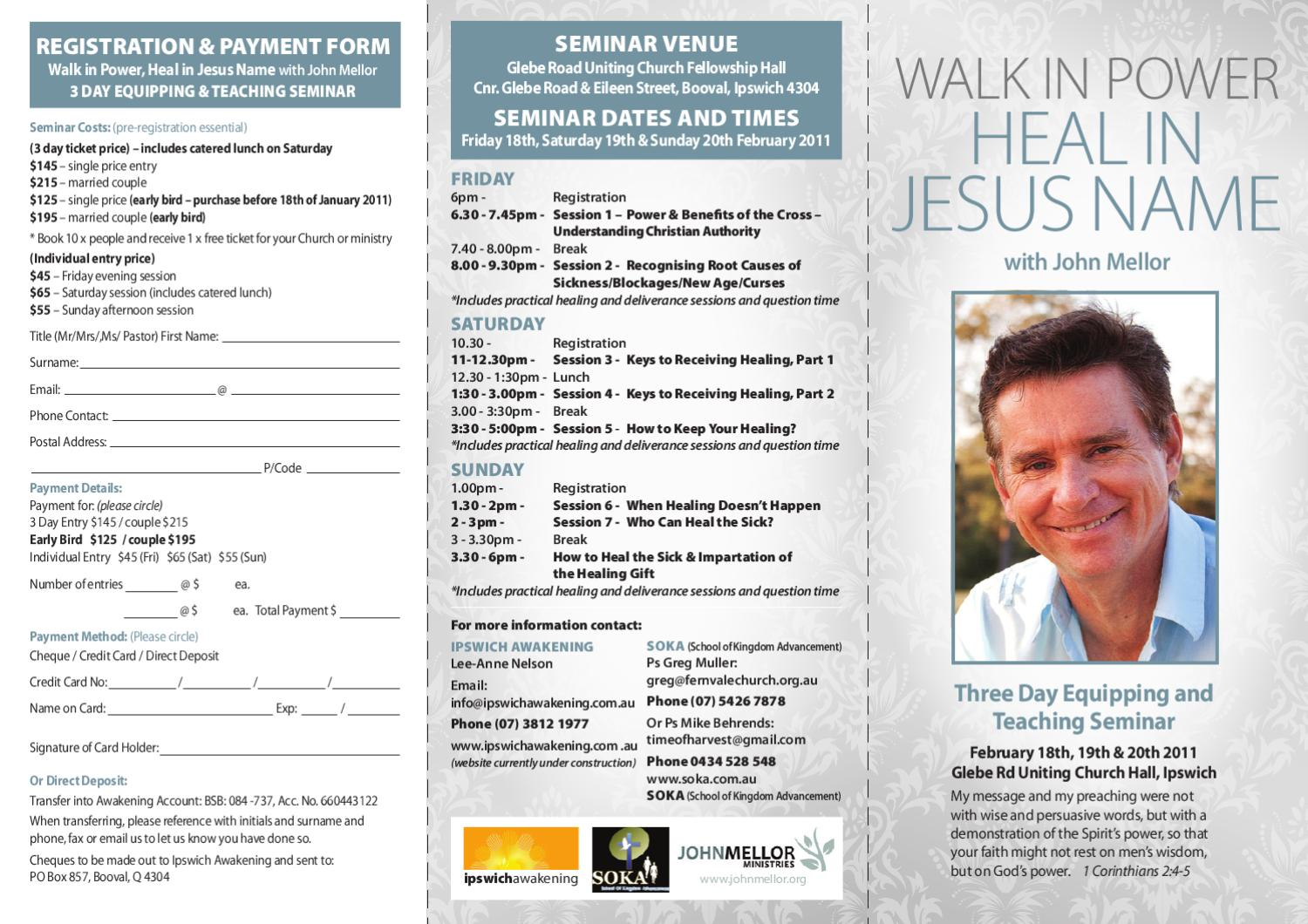 Three Day Equipping and Teaching Seminar by Naomi Williams - issuu
