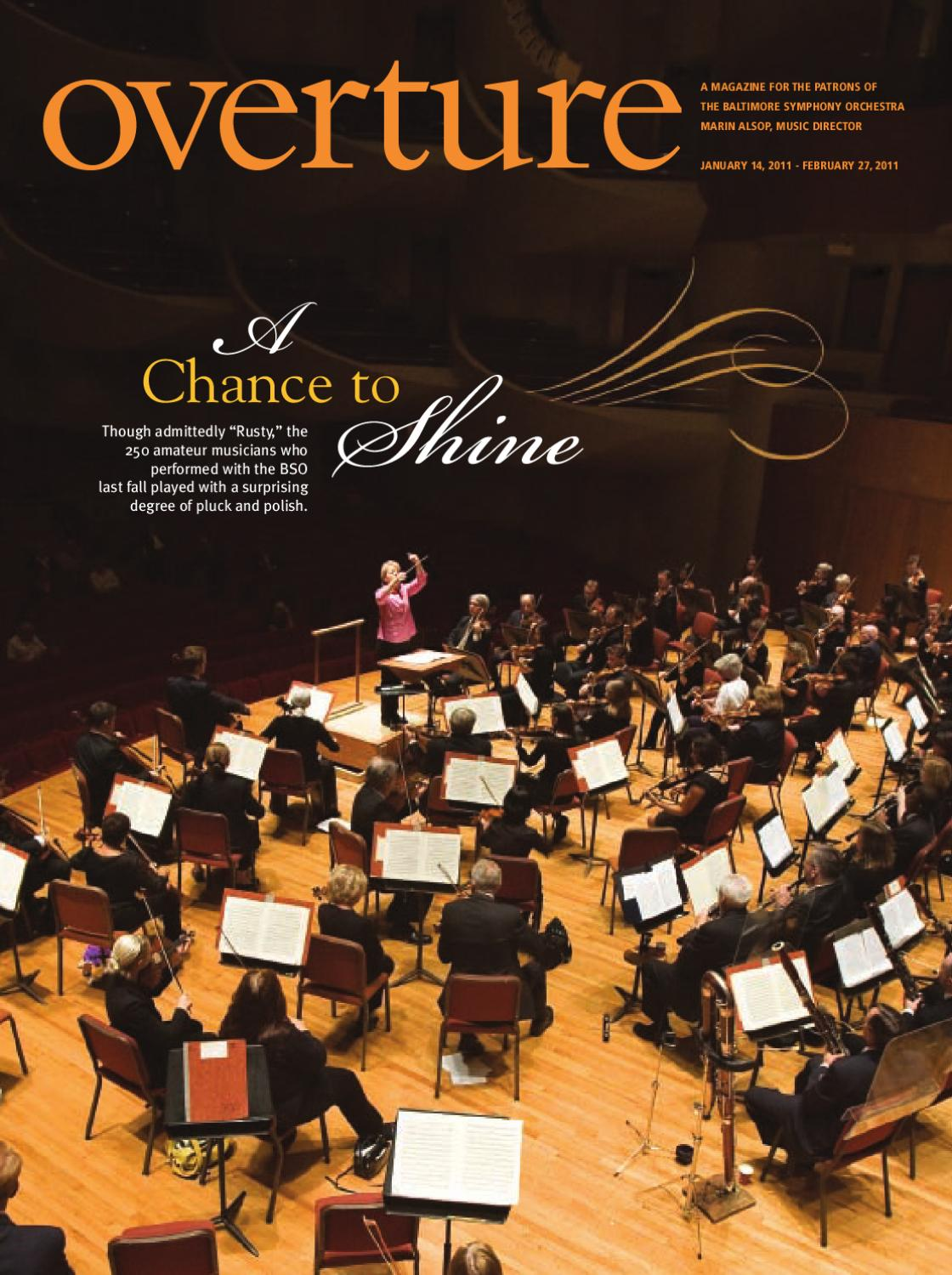 Overture January February 2011 By Baltimore Symphony Orchestra Issuu Andrew Smith Bermuda Shorts Kuning 31