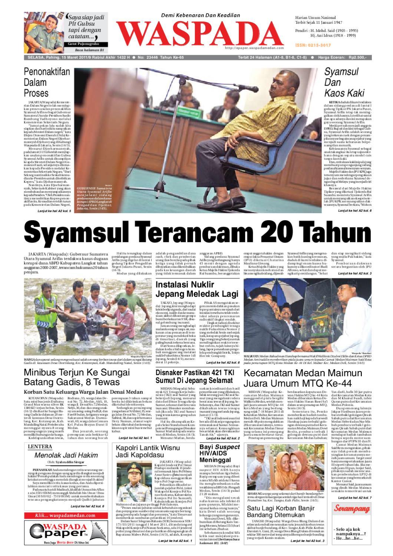 Waspada Selasa 15 Maret 2011 By Harian Waspada Issuu
