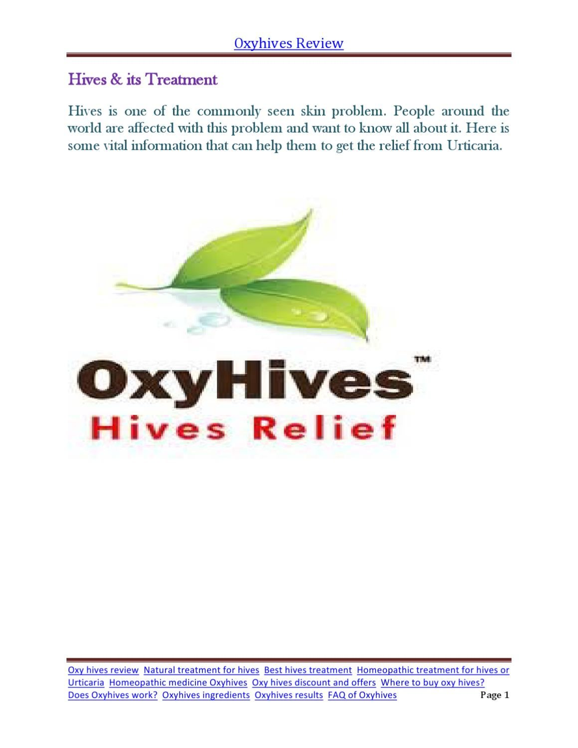 Oxyhives Review By Caroline Brown Issuu