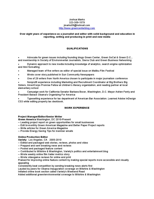 Josh Marks Resume by Josh Marks - issuu