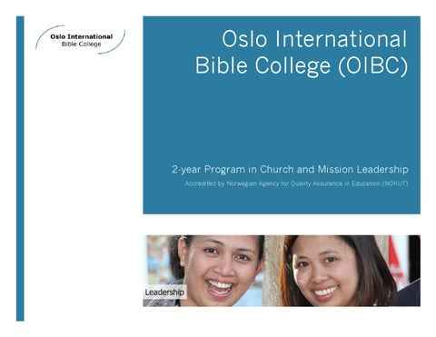 b67021a3 Oslo International Bible College (OIBC) Brochure 2011-2013