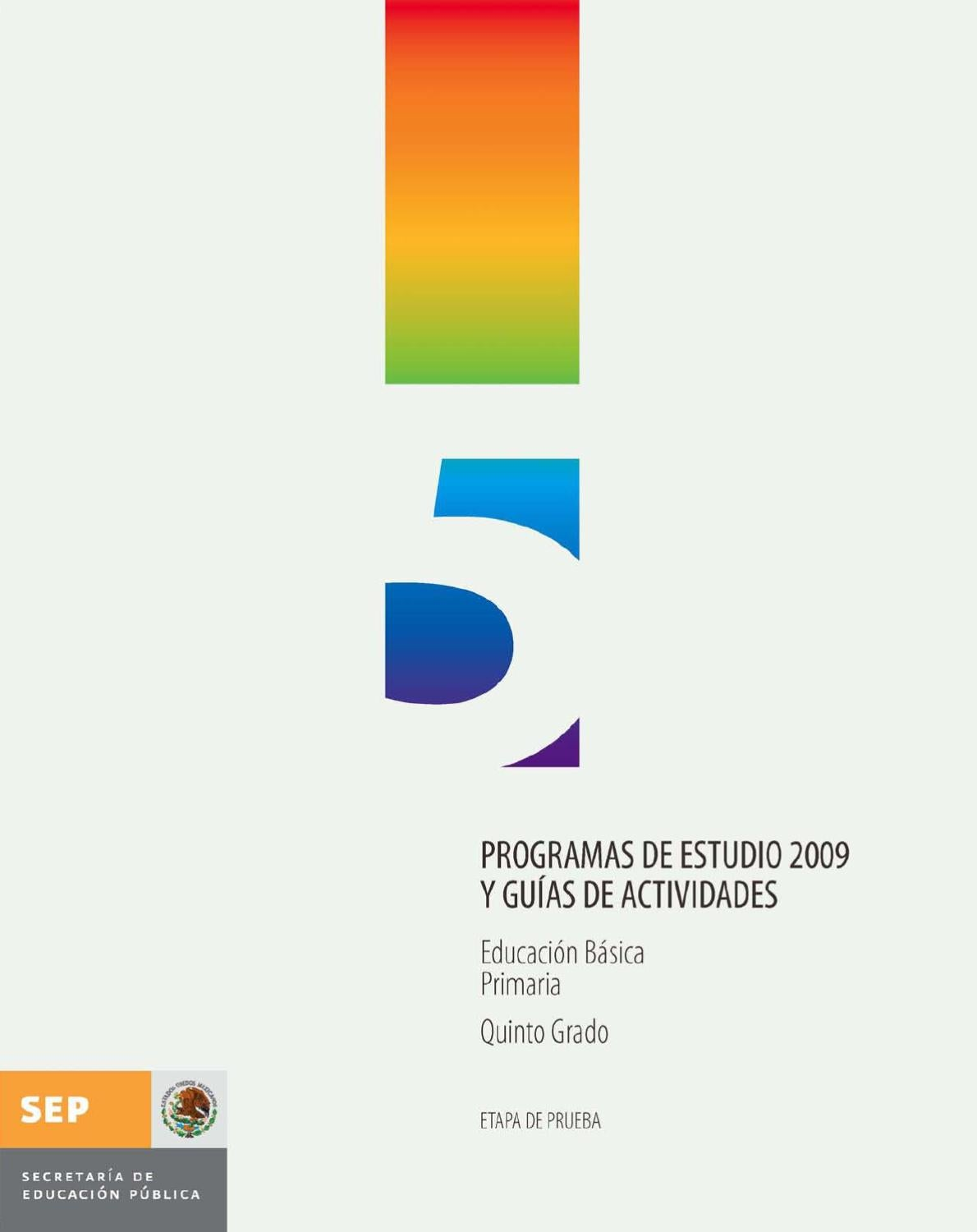 PROGRAMA DE QUINTO GRADO by Mercedes Sanchez - issuu