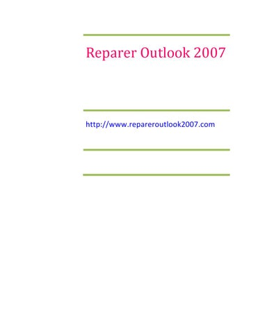télécharger scanpst.exe outlook 2007 gratuit