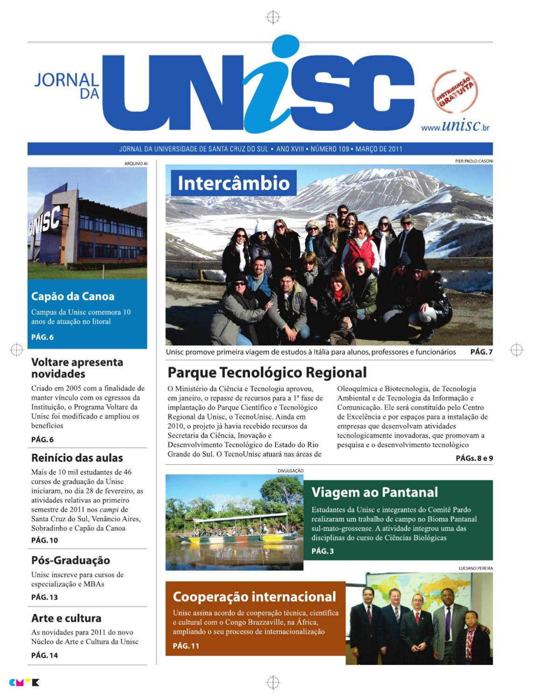 3bb814b4c3 Jornal da UNISC by UNISC Santa Cruz do Sul - issuu