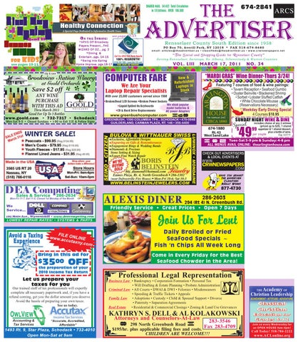 The Advertiser South 3-17-11 by Capital Region Weekly Newspapers - issuu 9ede9fcaeb6d9
