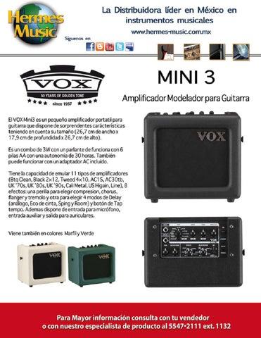 Mini 3 de Vox by Hermes Music, SA de CV - issuu