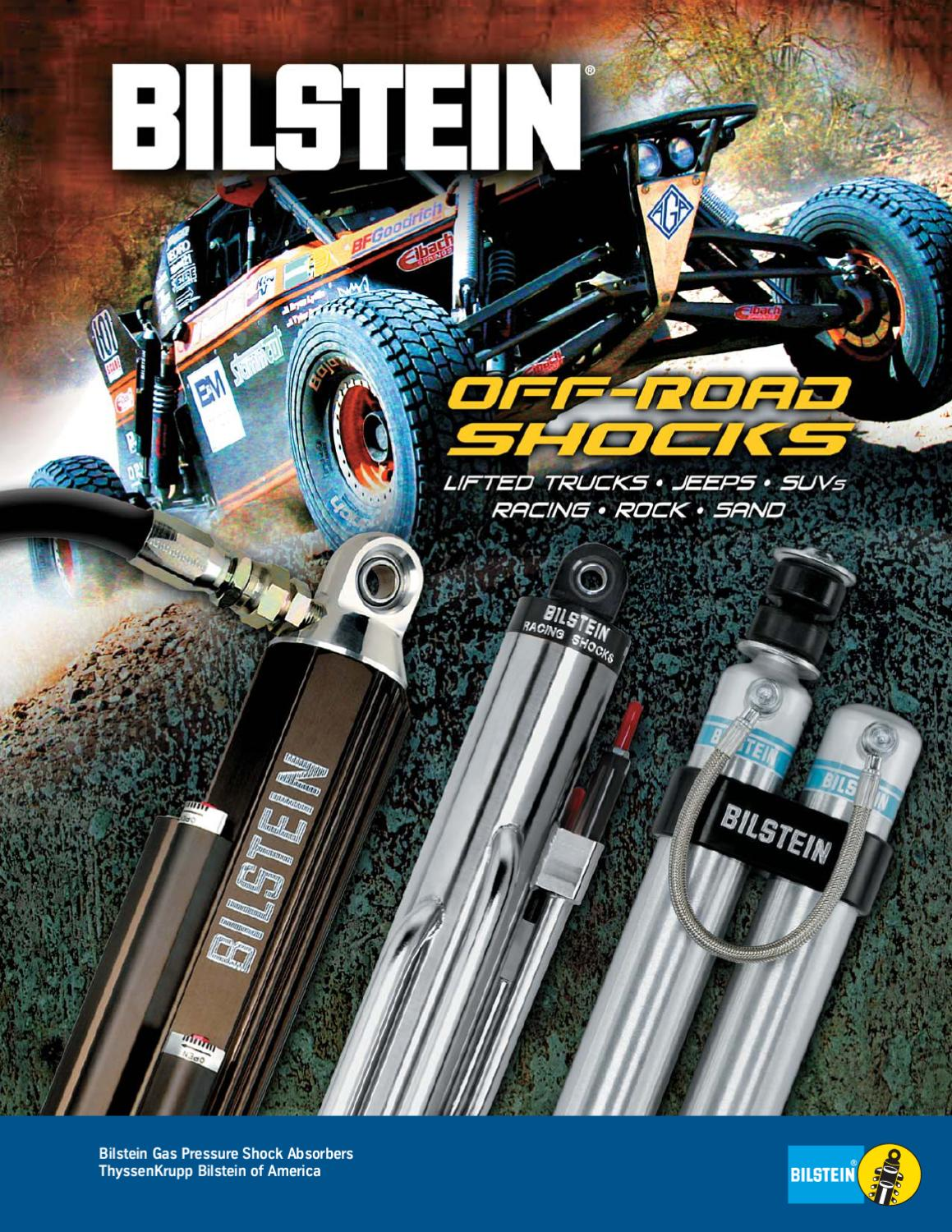 """0-2.5/"""" Bilstein Front /& Rear Shock Absorber Kit for H2 w//Front Lifted Height"""