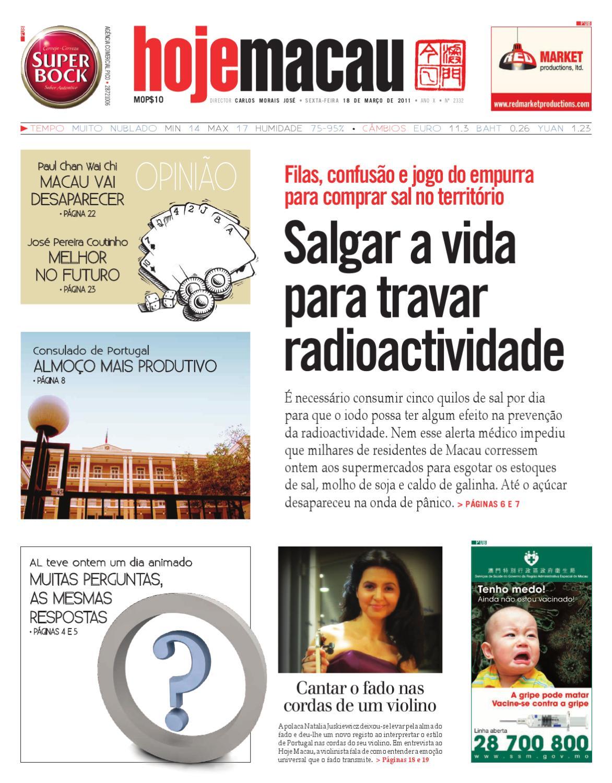 b9ca945539 Hoje Macau 18 MAR 2011  2331 by Jornal Hoje Macau - issuu