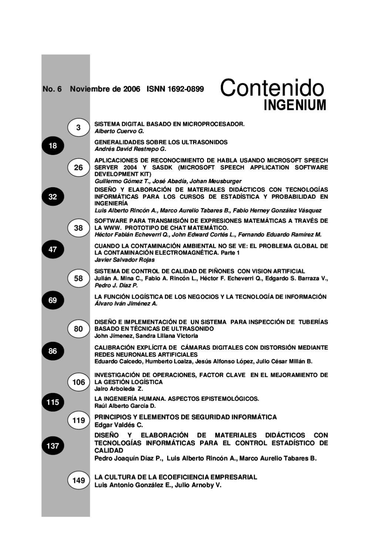 Revista INGENIUM Nº 6 by Revista Ingenium - issuu