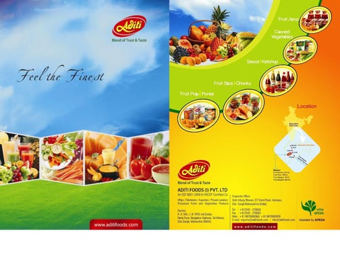 ADITI FOODS Company Profile by BHAGAT PATIL - issuu