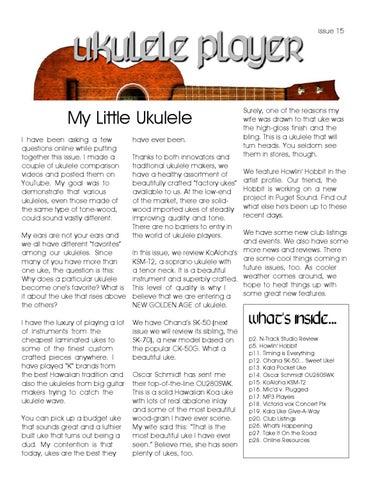 Issue15 By Baanukulele Ukulele Issuu