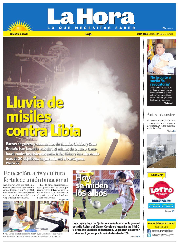 Diario La Hora Loja 20 De Mar De 2011 By Diario La Hora Ecuador  # Hagamos Muebles Placacentro