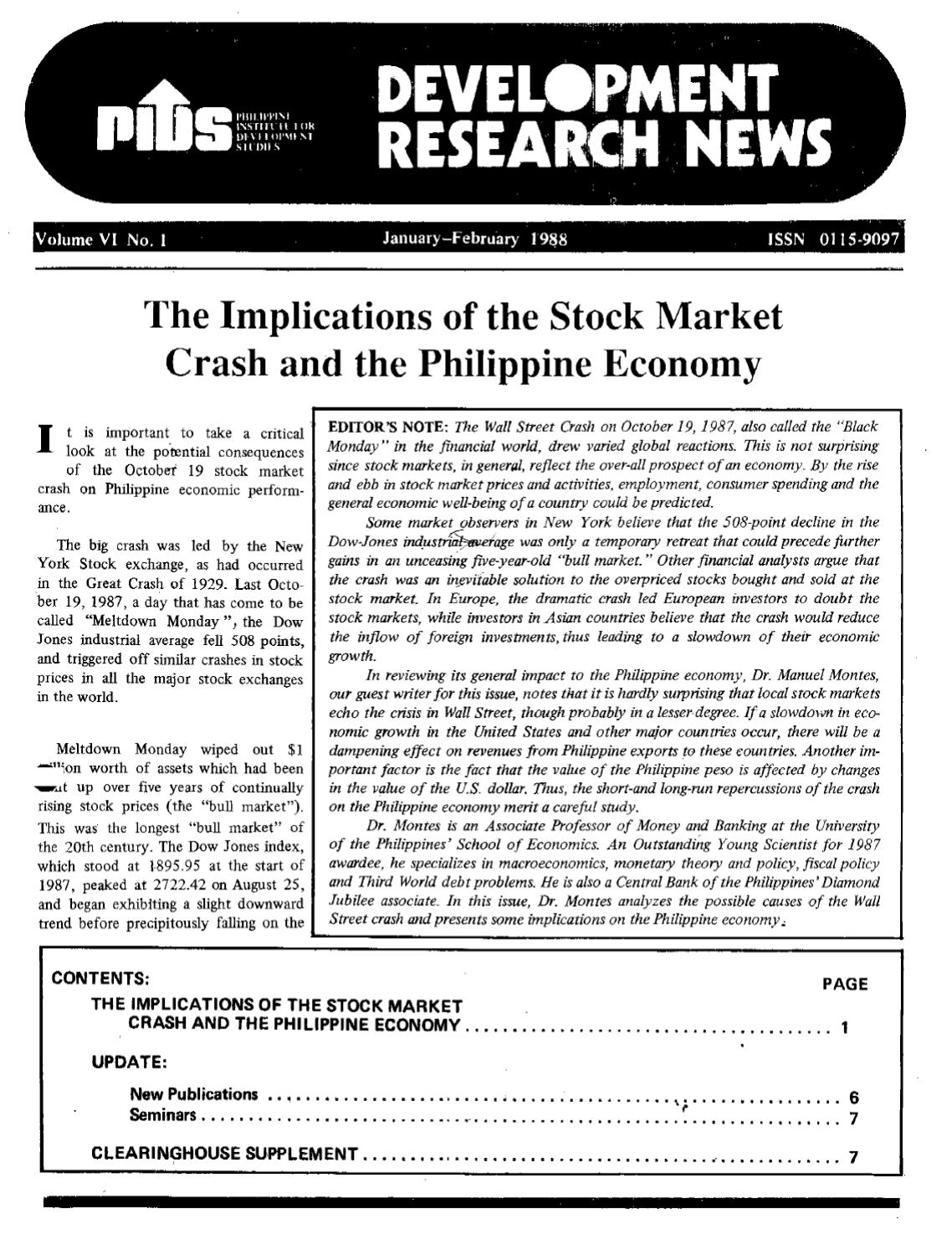 Research paper on stock market crash feature selection thesis