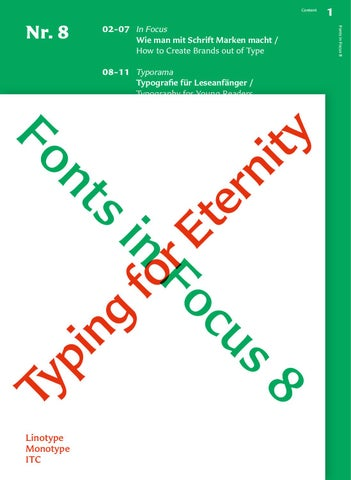 Fonts in Focus No. 8 by Linotype GmbH - issuu