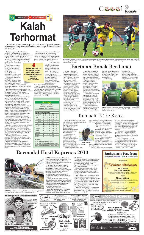 Banjarmasin Post Edisi Selasa 22 Maret 2011